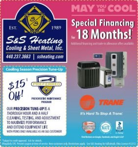 May 2021 HVAC Special S&S Heating Cooling Hinckley OH